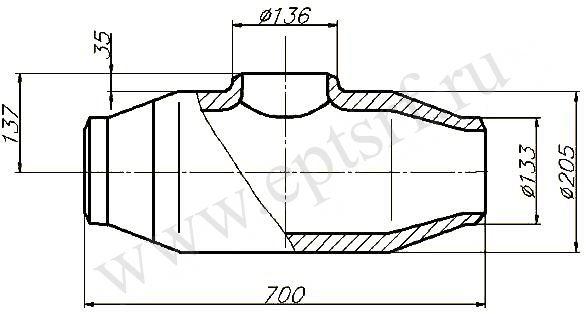Тройник равнопроходной ОСТ 108.104.09-82