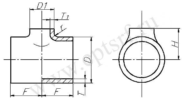 Тройник равнопроходной ТУ 1469-005-04834179-2004
